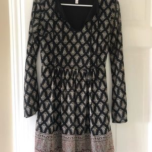 Boho flowy pattern dress